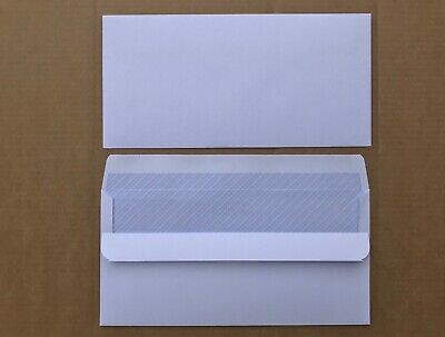 DL envelopes White 90g Wallet self seal Non Window. Packed in 50s