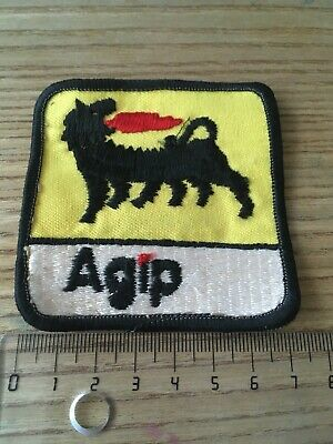 Aufnäher Patch Logo Weste Vintage Overall Youngtimer Sponsor Agip Oldschool