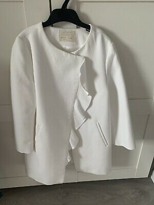 Zara Cream Coat - Girls - Age 10