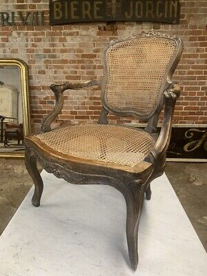 18Th Century French Walnut And Cane Chair