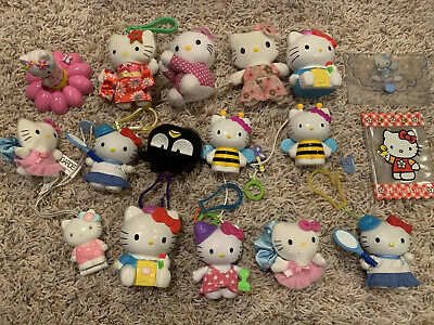 Vintage Mcdonalds Hello Kitty Lot 17 Total From 1999 2000 2001