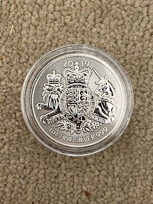 2019 Royal Coat Of Arms 1oz Silver Coin In Capsule
