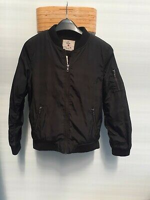 Girls Black Bomber Jacket Primark Age 12-13