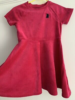 Girls Juicy Couture Pink Velour Skater Style Dress Age 8 Years EUC