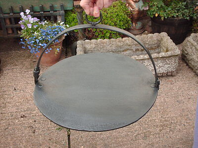 Antique Hanging Cast Iron Skillet / Griddle Plate