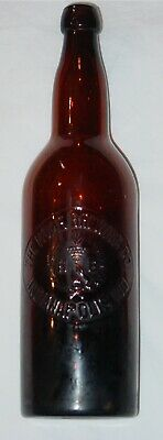 "Rare Antique The Home Brewing Co. Indianapolis, Ind. Bottle - 11 1/2"" X 3"""