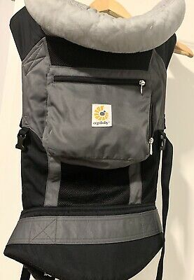 Ergobaby Cool Air Mesh Performance Multi-Position Baby Carrier Charcoal Black