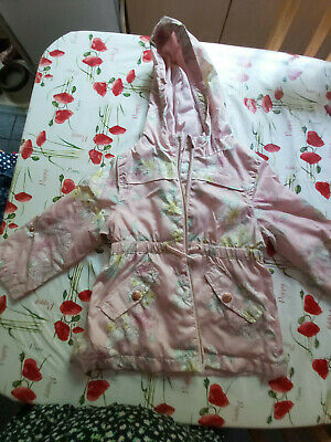 Girls shower proof coat from F7F pink floral age 18-24 months
