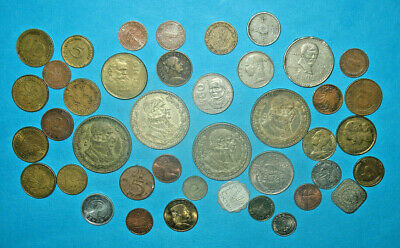 World Coin Lot With 4 Large Silver Mexico Un Peso! (63J)