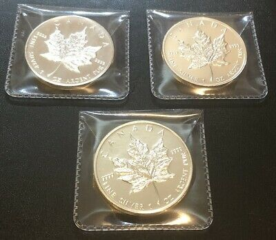 3oz of Solid Silver - Canadian Maple Leafs!