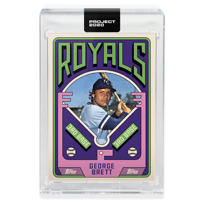 Topps PROJECT 2020 Card 75 - 1975 George Brett by Grotesk - PreSale SP 🔥🔥