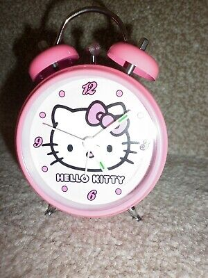 Childrens Hello Kitty Alarm Clock, In Bright Pink, Great Condition