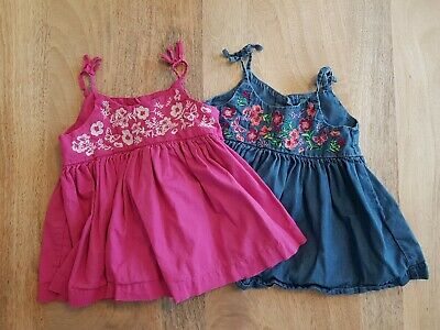 Girls summer strappy swing top bundle - Baby Gap - 2 years