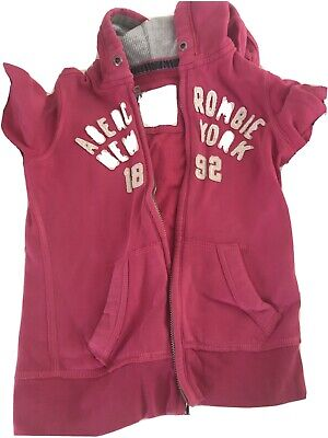 Abercrombie And Fitch Pink Kids Hoody Size S Age 10 11 Loungewear Girls