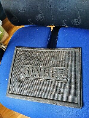 Vintage Treadle Singer Sewing Machine Rubber Mat