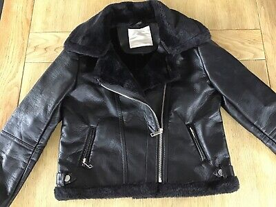 Girls faux leather biker style jacket age 11 years