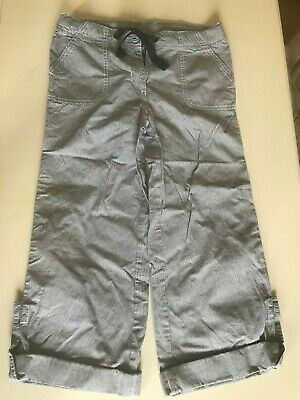 Mini Boden new girls blue and white three-quarter length trousers, 10 years