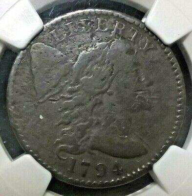 1794 Head of 95 Flowing Hair Large Cent  NGC VF details  S-67