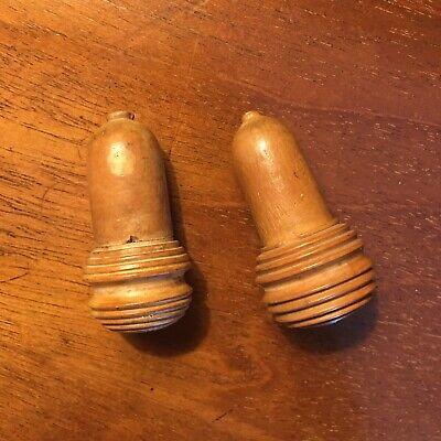 A Pair of Early 20th Century Treen Light Cords/Blind Pulls