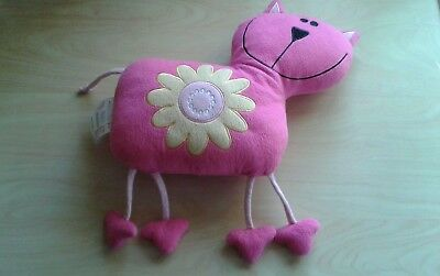 Cat Cushion , Pink/Yellow EX COND!