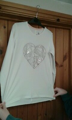 Girls Pepperts Heart Top T Shirt age 10-12 years, BNWOT!!