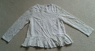 Girls BHS Tammy Girl Ivory Lace Top age 10-11 years, BNWOT!!
