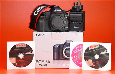 Canon EOS 5D MK II DSLR Camera Body 21.1 MP + Boxed with Only 8,649 Shots Taken