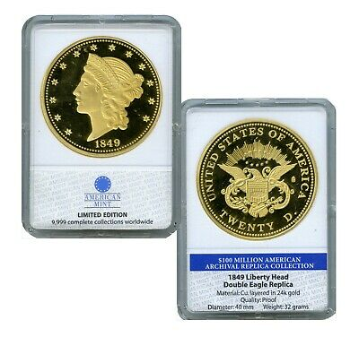 1849 Liberty Head Double Eagle Commemorative Coin Proof Lucky Many Value $99.95