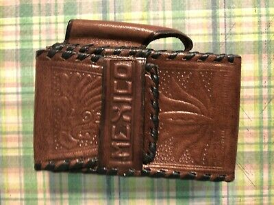 Vintage Leather Cigarette Case - made in Mexico