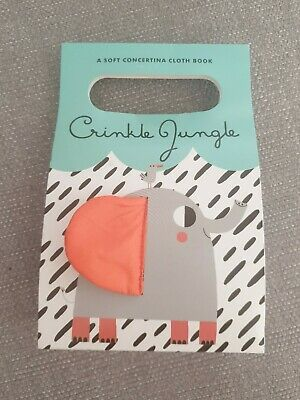 Crinkle Jungle High Contrast Cloth Book. Babies first book.