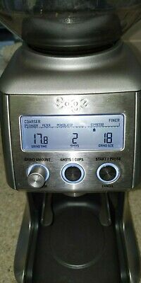 Sage BCG820BSSUK The Smart Grinder Pro Coffee Kitchen Appliances 165W Silver^`