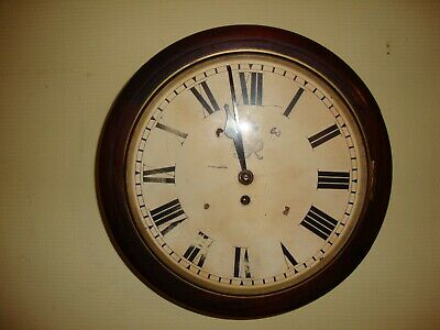 WWII 1940 mahogany King George fusee wall clock by F.W.Elliott ltd