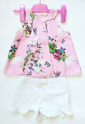 Ted Baker Girls 2-3 Years Summer Shorts And Top Gorgeous