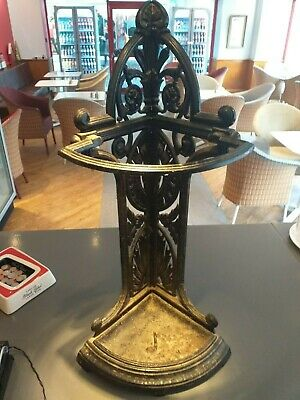 Cast iron VICTORIAN aesthetic movement ANTIQUE corner stick umbrella stand