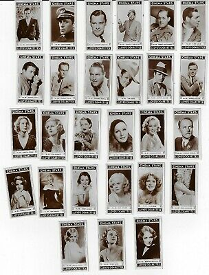 1935 Richard Lloyd & Sons Cinema Stars Tobacco Cards Complete 27 Card Set