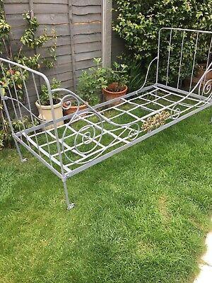 Antique Wrought Iron French Day Bed