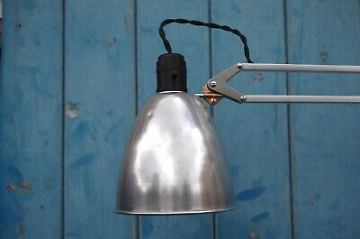 Herbert Terry Anglepoise 1209 Wall Mounted Lamp Rewired Crabtree Bulb Holder VGC