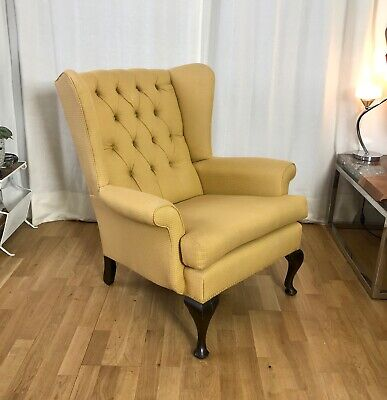 Stunning Vintage Antique Wingback Fireside Armchair in Fantastic Condition