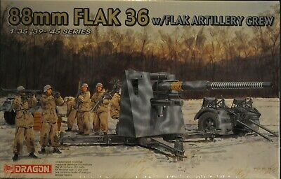 Dragon 1/35 Scale Model Kit #6260 88MM FLAK 36 WITH CREW