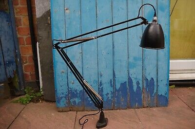 Vintage Herbert Terry Anglepoise 1209 Lamp Rewired Good Working Order 1208