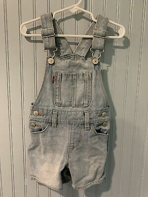 Levi Strauss & Co Light Blue Bib Short Overalls Size 3T~ADORABLE!!~~E7