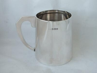 Solid Sterling Silver Cup/ Mug/ Tankard 1938/ H 8.6 cm/ 186 g