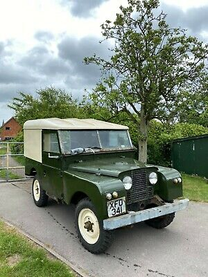 "1955 Land Rover 86"" Series 1 - V5 present, replacement chassis included, runs!"