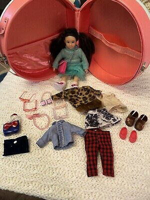 "Lori By Our Generation 6"" Doll With Clothes, Glasses, Shoes, Carrying Case Ect.."