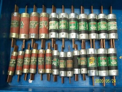 Large Lot Of 25 Frn Fuses  200 150 125 100 Amp
