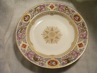 ANTIQUE~FRENCH SEVRES~ HUNT SCENE, BOWL~KING LOUIS  PHILIPPE~CHATEAU De F. BLEAU
