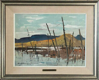 Lorne Bouchard, RCA, Canadian, original oil painting, 1973, provenance