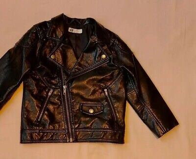 girls H&M biker jacket age 4 - 5 great condition