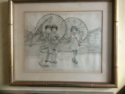 Vintage Japanese Drawing