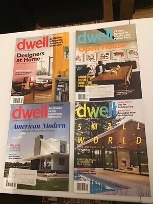 Dwell Magazines 2012 4 issues, architecture and interior design
